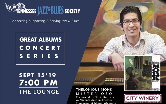 "TJBS Great Albums Concert: Monk's ""Misterioso"" performed by the David Rodgers Quartet"
